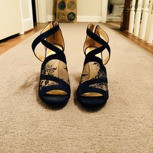 13dd6fb9cad Jimmy Choo Shoes - Jimmy Choo  Vantage  Suede and Lace Heels